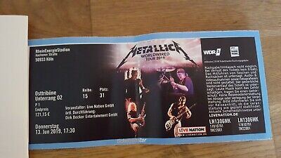 Metallica Worldwired Tour 2019,1 Ticket, Köln 13.06.2019, Osttribüne, Unterrang