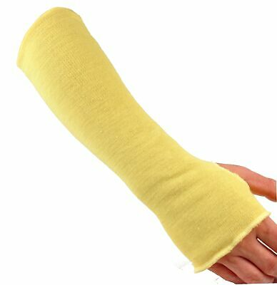 """G & F 58123-6 Kevlar Knit Sleeve with Thumb Slot, 18"""", Yellow (Pack of 6)"""