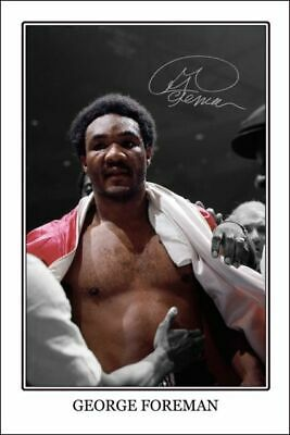 4x6 SIGNED AUTOGRAPH PHOTO PRINT OF Iron GEORGE FOREMAN #46