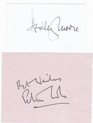 PETER COOK & DUDLEY MOORE - signed autographs