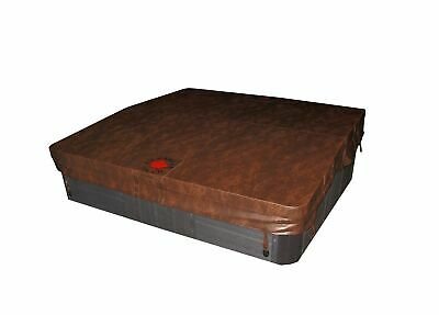 Canadian Spa Company Square B 4R Deluxe Hot Tub Spa Cover, Brown, 78 x 78-Inch