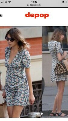 20e849e5480 TOPSHOP KATE MOSS Floral Poppy Pansy Wrap Dress US 4 Realisation Par ...