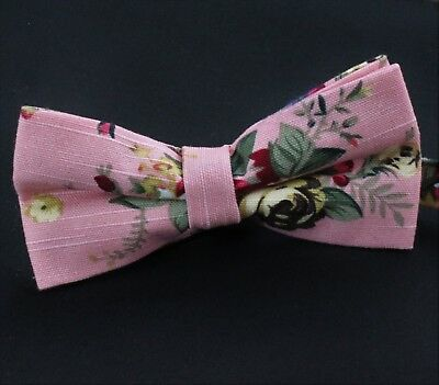 Men Satin Novelty Bow Tie Dickie Bow PreTied  Striped Checked Polk Each In BOX