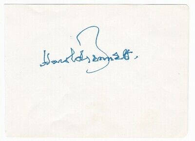 very rare HAROLD BENNETT signed autograph - Are You Being Served? Dads Army etc.