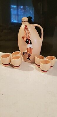 Diana Pottery, Essendon Football Club Decanter And Goblets