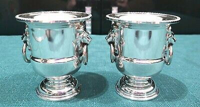Viners of Sheffield - Silver Plated Urn - Lion Head - Toothpick Holder - Egg Cup
