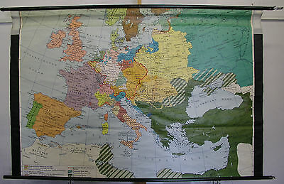 Schulwandkarte Wall Map School Map Europe in Absolutismus 196x129 Map Europe