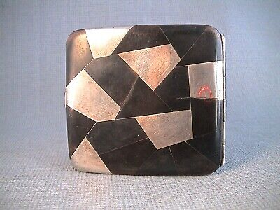 Japanese Silver and Mixed Metal Card Cigarette Case Dated 1917