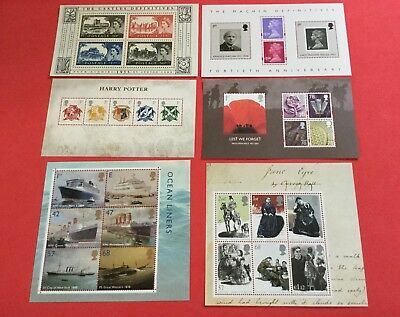 Gb 2000-2010 Miniature Sheets Mnh Individually Priced In Excellent Condition.