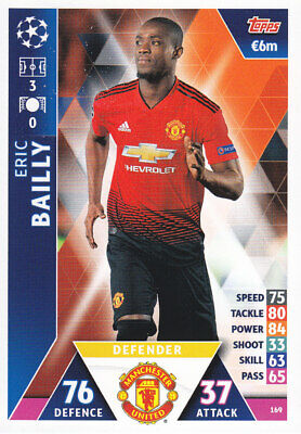 TOPPS MATCH ATTAX CL 2018-19 - Eric Bailly - Manchester United - # 169