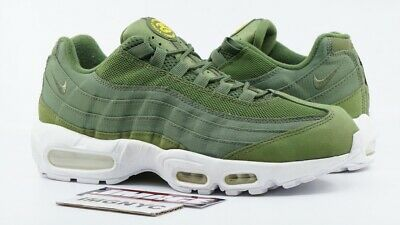 194e6a9bd5 NIKE AIR MAX 95 Used Size 9.5 Stussy Olive White 834668 337 ...