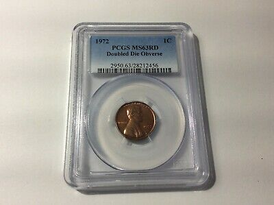 1972/72 Lincoln Cent Double Die-Obverse PCGS-MS63 RD