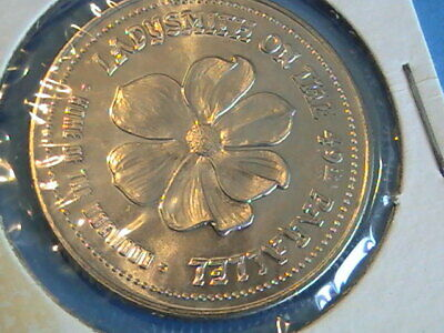 Trade Dollar Canada 1984 Ladysmith On The 49Th Parallel 80Th Anniversary Silver