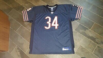 ae6815739e4 Rare Walter Payton Authentic Reebok On Field Chicago Bears Jersey Size 56  blue