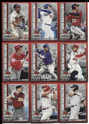 2019 Topps Series 1 Home Run Challenge PARTIAL set 32 of 35 Cards (UNUSED CODES)