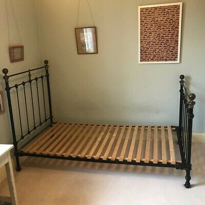 Original Antique French Iron/Brass Single Bed