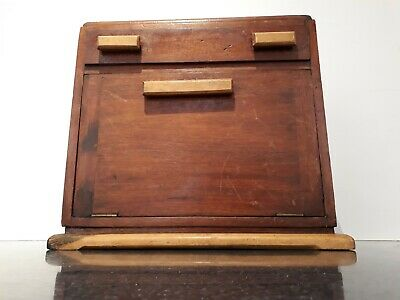 Vintage Solid Wooden Box -With French Polishing contents & Antique Drawer Pulls.