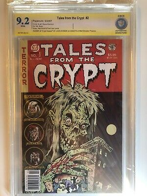 "Tales From The Crypt #2 CBCS Not Cgc Signed ""Crypt Keeper"" By John Kassir"
