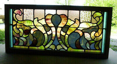 Antique Church Stained Glass Window Architectural Salvage Victorian W621