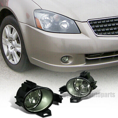 For 2005-2006 Altima/ Quest Fog Lamps Front Bumper Lights Kit Smoked Lens