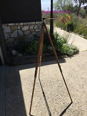 """Antique Vintage Folding style Camera Wooden Tripod, Home Decoration 57"""" tall"""