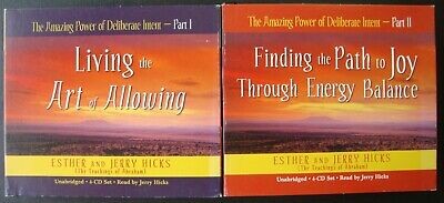The Amazing Power Of Deliberate Intent Part 1&2  Audiobook Cd's Hicks Self Help