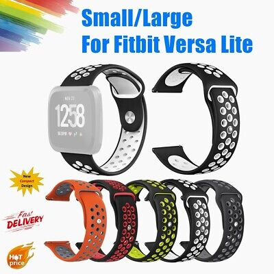 Small/Large Silicone Replacement Watch Band Strap For Fitbit Versa Lite  22mm