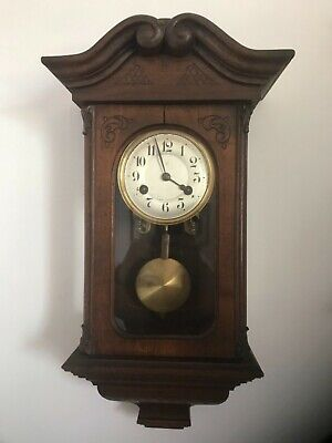 Antique junghans antique wall clock fully working