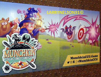 Munchkin Wizard Poster Ccg Collectible Card Game Steve Jackson Games Magic Bat