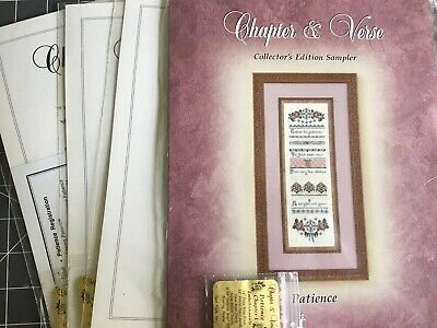 Patience Chapter & Verse Just Nan Embroidery Patterns +Embellishments Sealed 1-4