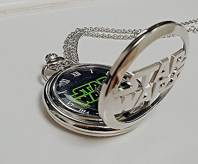 Star Wars Fob Silver Watch Pendant Steam Punk Space Opera Darth Vader Movies UK