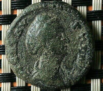 Faustina I, Wife Of Antoninus Pius Died 141 Ad, Ae Dupondius Ancient Roman Coin