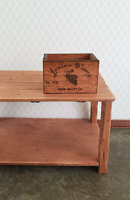 Dollhouse Miniature Texas Real Ale Crate 1:12 Alcohol Beer Distillery Store Shop
