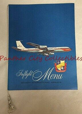 c1947 Vintage In Flight Menu Braniff International Airways El Dorado Super Jet