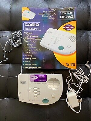 Casio PhoneMate-Digital Answering Machine with Time/Day Stamp-TA-105