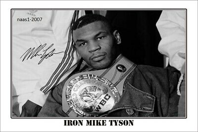 4x6 SIGNED AUTOGRAPH PHOTO PRINT OF Iron Mike Tyson #38