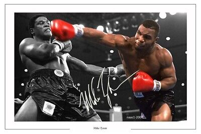 4x6 SIGNED AUTOGRAPH PHOTO PRINT OF Iron Mike Tyson #40