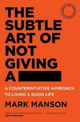 NEW The Subtle Art of Not Giving a - By Mark Manson Paperback Free Shipping