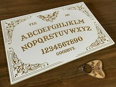 Moth Ouija Board With Planchette. Smooth Finish, High Quality Birch Plywood
