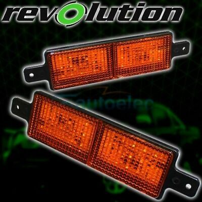 2 X Universal Led Bull Nudge Bar Front Amber Indicator Lights Lamps Sealed New