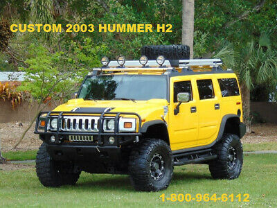 2003 Hummer H2 CUSTOM STEREO HUMMER H2 4X4 ALL WHEEL DRIVE LOADED ONE OF A KIND 2003 HUMMER H2 4X4 LIFTED ROOF RACK BUMPER CUSTOM STEREO TONS OF EXTRAS