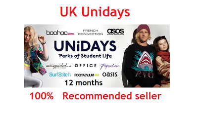 Fully Verified Unidays UK Student Account Valid for 1 Year - Student Discount