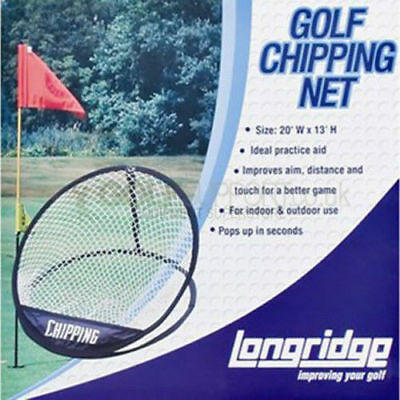 NEW. Practice Longridge Pop-Up Golf Chipping Net Training Aids Approaching