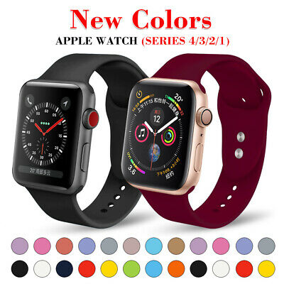 Silicone Band Sport Soft Strap for Apple Watch iWatch Series 2 3 4 38/40-42/44mm