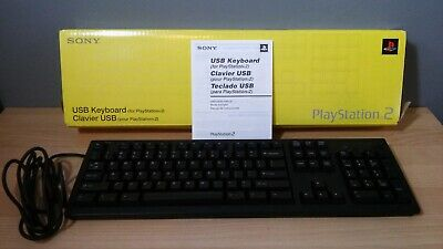 Official OEM Sony PlayStation 2 USB Keyboard SCPH-10240 PS2 Complete CIB Tested