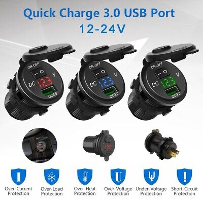 Qc 3 0 Usb Fast Car Charger Socket Power Adapter For Car Boat