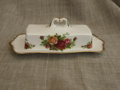 Royal Albert, Old Country Roses Rectangular Covered Butter Dish