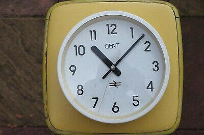 Vintage Gents Clock British Rail BR Gent of Leicester Quartz Battery Movement