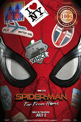 New Spider-Man Far From Home Mask Original Cinema Movie Print Premium Poster