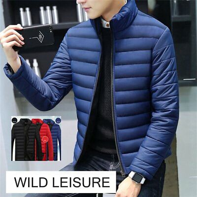 Fashion Stand Collar Winter Men Jacket Cotton Padded Down Coats Thick Outwe xn